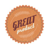Great product brown label, vintage style Royalty Free Stock Photos