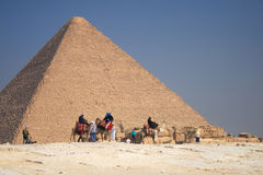 Great Pyramid. The great ancient Pyramid of Cheops in Giza, near Cairo (Egypt Stock Photo