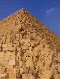 The Great Pyramid. At Giza in Egypt royalty free stock photography