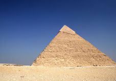 The Great Pyramid. The great ancient Pyramid of Chephren in Giza, near Cairo (Egypt Stock Images