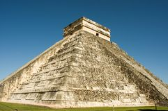 Great pyramid of Chichen Itza royalty free stock photo