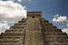Great pyramid Chichen Itza Royalty Free Stock Photo
