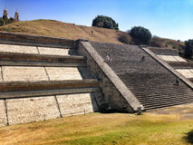 Great Pyramid of Cholula, Tlachihualtepetl, Mexico. View of the Great Pyramid of Cholula, Tlachihualtepetl, one of the largest prehispanic structures in the Royalty Free Stock Photo