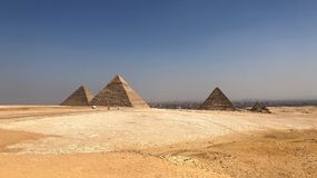 The Great Pyramid Complex in Giza, Egypt. The Great Pyramid Complex on desert in Giza, Egypt Royalty Free Stock Photos