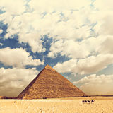 Great pyramid of Egypt Royalty Free Stock Images