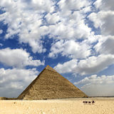 Great pyramid of Egypt Stock Image