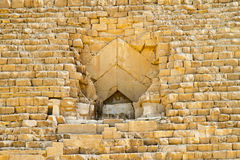 Great pyramid entrance Stock Image