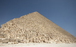 Great Pyramid of Giza. The Great Pyramid of Giza (also called the Pyramid of Khufu and the Pyramid of Cheops) is the oldest and largest of the three pyramids in Stock Photo