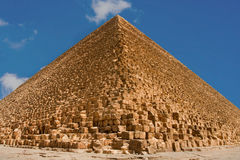 Great pyramid of Giza. Great pyramids of Giza with blue sky on background Royalty Free Stock Photos