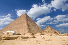Great Pyramid of Giza. (pharaoh Khufu pyramid) and small pyramid, Egypt Royalty Free Stock Photography
