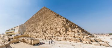 The Great Pyramid of Giza. Also the Pyramid of Khufu or the Pyramid of Cheops. is the oldest and largest of the three pyramids in the Giza pyramid complex royalty free stock image