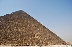Great Pyramid of Giza, Egypt. Wide angled view of the Great Pyramid of Giza, Egypt Royalty Free Stock Photography