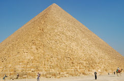 Great Pyramid of Giza, Egypt. The Great Pyramid of Giza in Cairo, Egypt. The tallest man made structure with casting stones. Photo taken on February 27, 2007 Royalty Free Stock Photo