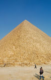 Great Pyramid of Giza, Egypt. Great Pyramid of Giza in Egypt is the one of seven wonder. Photo taken on February 27, 2007 Royalty Free Stock Image