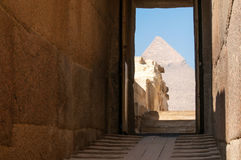 The Great Pyramid of Giza, Egypt. Famous ancient monument Royalty Free Stock Image