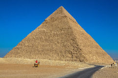 The Great Pyramid at Giza, Egypt. Royalty Free Stock Photos