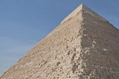 Close up of Egyptian Pyramid at Giza Stock Photography
