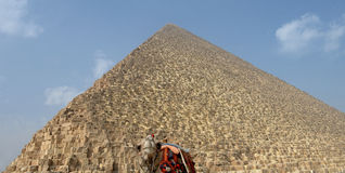 Great Pyramid of Giza Royalty Free Stock Photos