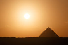 Great Pyramid in Giza at sunrise Royalty Free Stock Photo