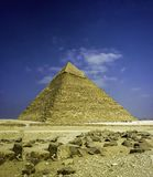 Great Pyramid Of Khafre in Cairo, Egypt. royalty free stock photography