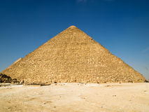 Great Pyramid of Khufu. In Giza plateau, Egypt Stock Photography