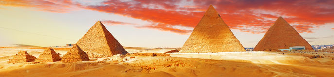 Great Pyramid    located at Giza. Great Pyramid , located at Giza , Egypt Royalty Free Stock Photo
