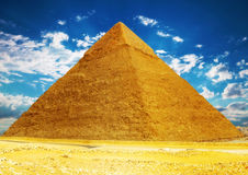 Great Pyramid  located at Giza . Stock Image