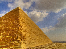 Great Pyramid Painting Royalty Free Stock Image
