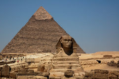 The Great Pyramid & The Sphinx Royalty Free Stock Photo