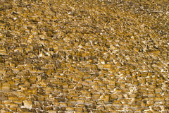 Great pyramid texture Royalty Free Stock Photos