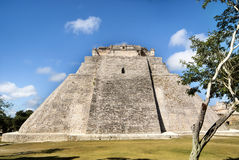 Great Pyramid of Uxmal Mexico Royalty Free Stock Images