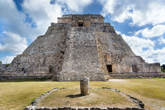 Great Pyramid of Uxmal Yucatan Stock Photos