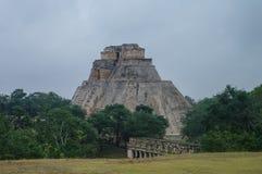 Great Pyramid of Uxmal. Yucatan Mexico Stock Photo
