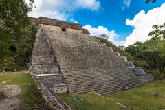 The great pyramid in Uxmal, Yucatan, Mexico Royalty Free Stock Photography