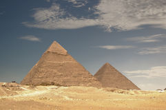 The Great Pyramids. Of Egypt under a sunny sky royalty free stock images