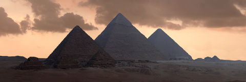 The Great Pyramids. Egyptian Pyramids of Gizeh stock photos