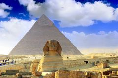 Great Pyramids Cairo .Egypt. Stock Photos