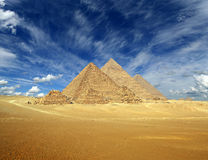 Great pyramids in Egypt. Great pyramids at Giza Cairo in Egypt Stock Photography
