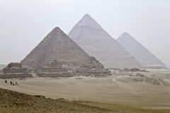 Great pyramids of giza. In egypt Stock Photos