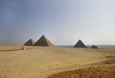Great Pyramids of Giza Stock Image