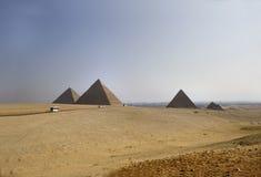 Great Pyramids of Giza. Great pyramids of Chephren, Khafu and Menkaure on the giza plateau, Kairo, Egypt stock image
