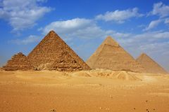 The Great Pyramids of Giza royalty free stock image