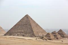 Great pyramids. Of Giza, Cairo, Egypt stock photo