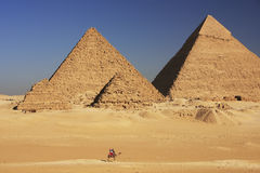 Great Pyramids of Giza, Cairo Stock Photo