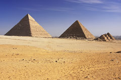 Great Pyramids of Giza, Cairo Royalty Free Stock Photo