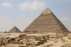 Great Pyramids of Giza. Cairo. Egypt Stock Images
