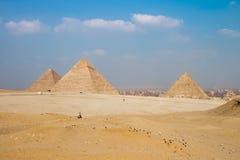 Great Pyramids of Giza, Cairo, Egypt Royalty Free Stock Photos