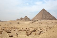 Great pyramids. Of Giza, Cairo, Egypt royalty free stock images