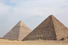 Great pyramids. Of Giza, Cairo, Egypt royalty free stock photo