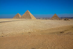 The Great Pyramids of Giza, Cairo, Egypt Stock Photo